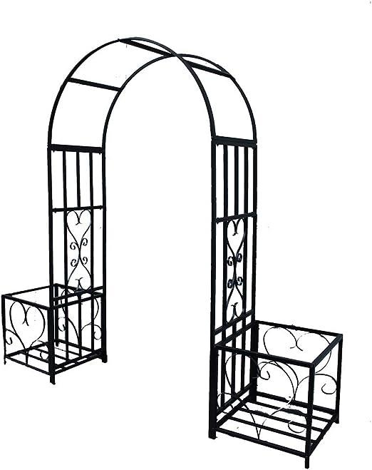 XLOO Iron Art Garden Arch, Garden Arbor Pergola Arch para Plantas trepadoras, con Marco, sin Soporte Auxiliar, Wedding Arch Party Ceremonia Decoración Decoración de Plantas trepadoras Soporte Trelli: Amazon.es: Hogar