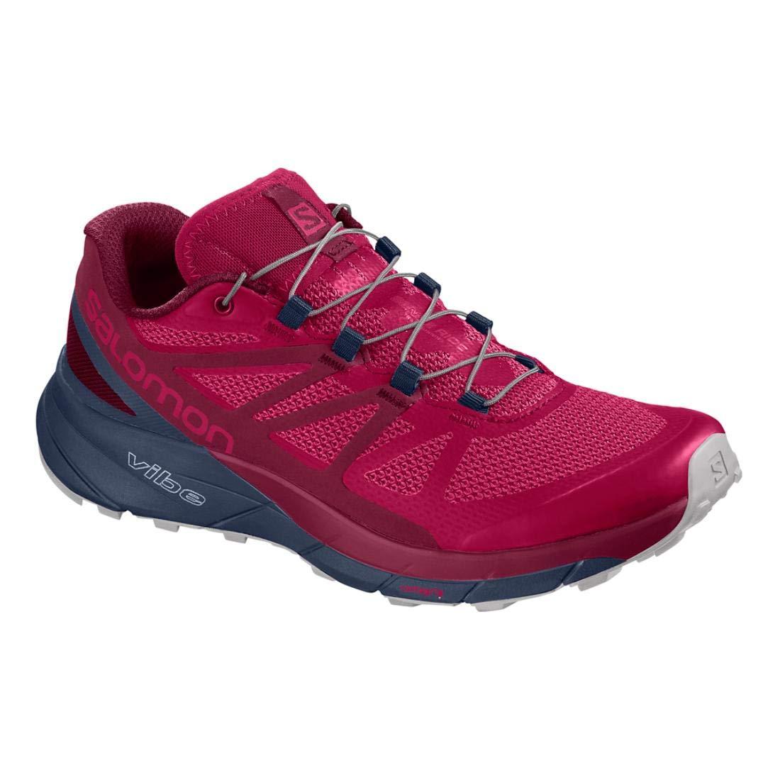 Salomon Women's Sense Ride Running Trail Shoes Cerise/Navy Blazer/Vapor Blue 5 by Salomon (Image #1)