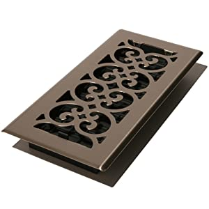 Decor Grates SPH414-NKL Floor Register, 4-Inch by 14-Inch, Brushed Nickel Finish