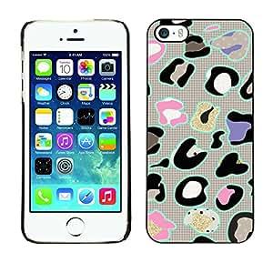 Caucho caso de Shell duro de la cubierta de accesorios de protección BY RAYDREAMMM - Apple iPhone 5 / 5S - Animal Pattern Abstract Grey
