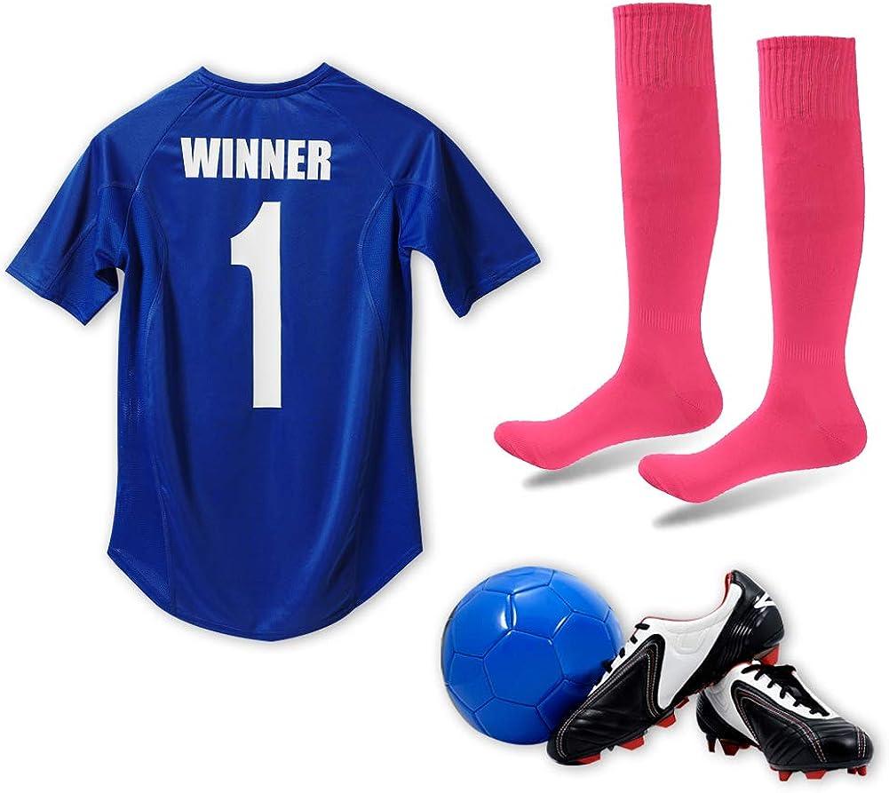diwollsam Unisex Knee High Tube Long Bright Colored Sport Uniform Socceer Football Baseball Team Socks 6 Pairs