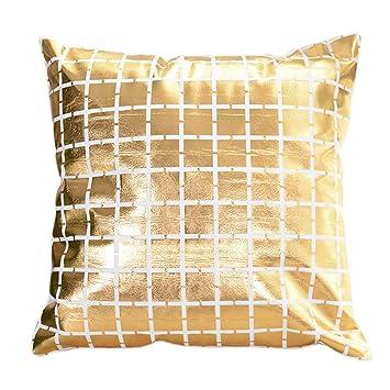 Amazon.com: iCJJL Gold Foil Printing Pillow Case Sofa Waist ...