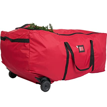 Christmas Tree Rolling Storage Bag.9ft 2 74m Rolling Christmas Tree Storage Bag On Wheels