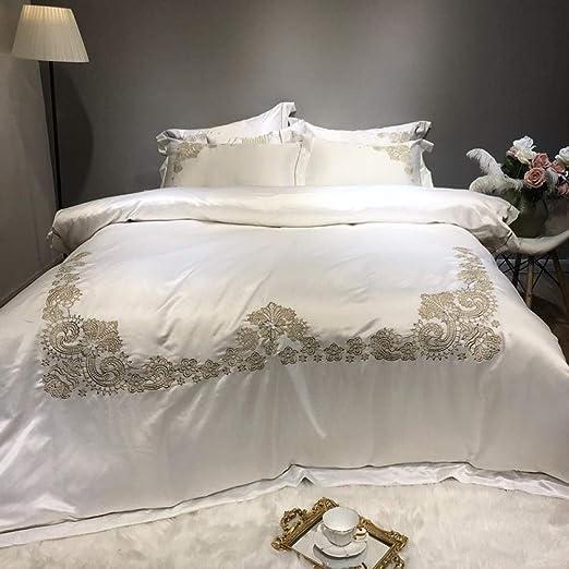 Sábanas de algodón cepillado, ropa de cama de algodón europeo ...
