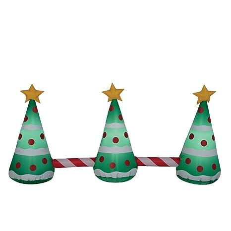 Christmas Tree Inflatable.Amazon Com Christmas Inflatable 3 Christmas Trees W Star
