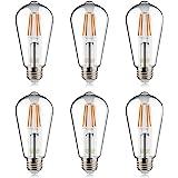 Helloify Light Dimmable Edison, Vintage Antique Style ST19(ST64) LED Filament Bulbs, 60W Incandescent Equivalent, 2700K…