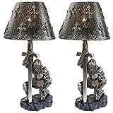 Design Toscano At Battle's End Sculptural Lamp - Set of 2