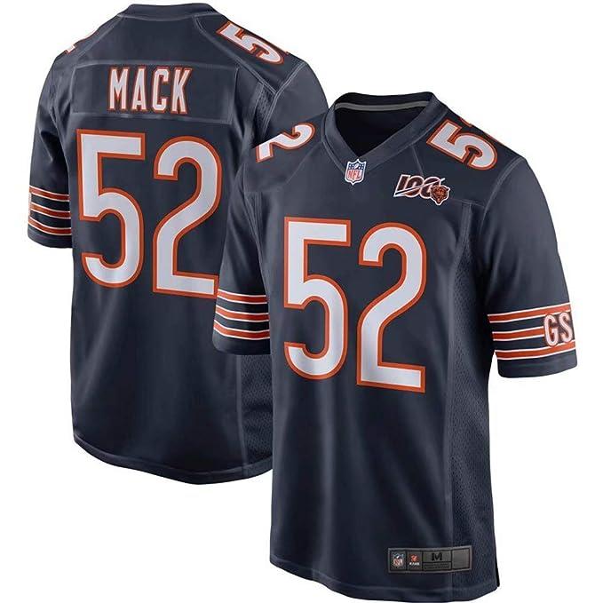newest b4323 b2f3a Men's #52 Khalil Mack Chicago Bears 100th Season Game Jersey – Navy