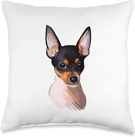Amazon Com Toy Fox Terrier Throw Pillows Gifts Toy Fox Terrier Dog Decorative Throw Pillow 16x16 Multicolor Home Kitchen