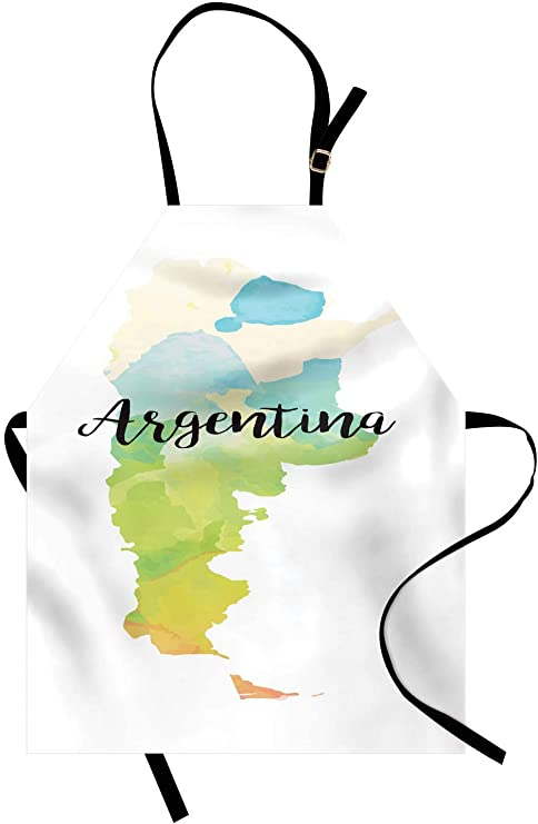 Argentina Delantal, Mapa de país Arte degradado de acuarela ...
