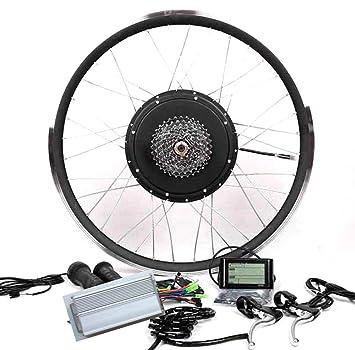 48 V1200 W Casete Motor bicicleta eléctrica Kit de conversión + LCD + 8 o 9