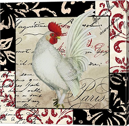 Europa White Rooster by Color Bakery wall art