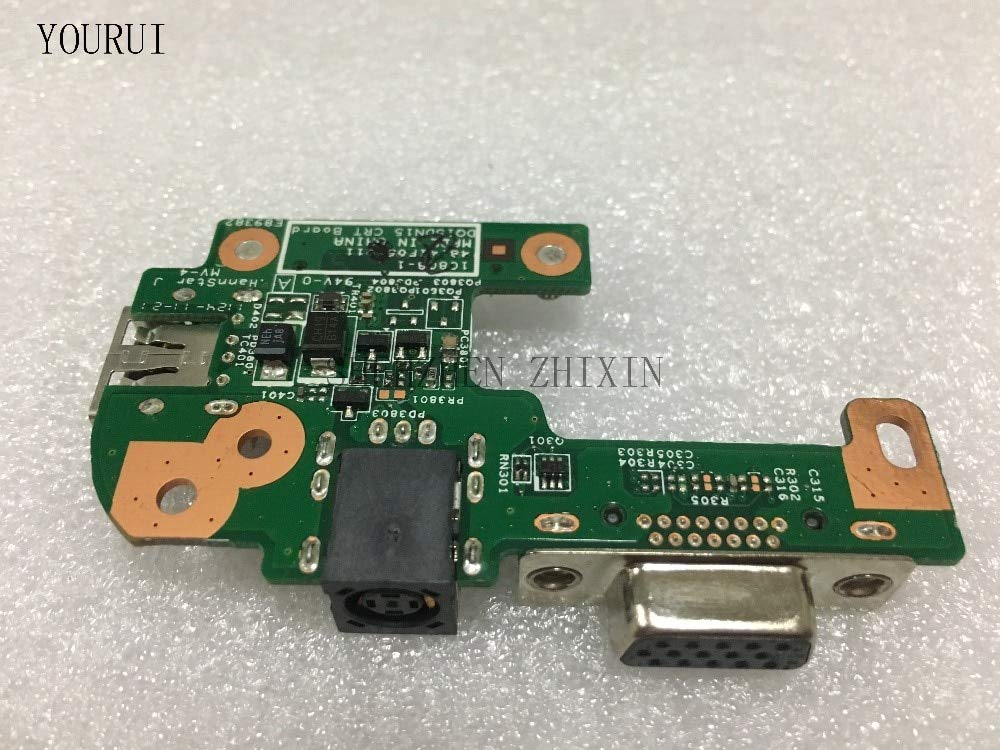 YOUKITTY for DELL INSPIRON N5110 48.4IF05.011 DQ15DN15 CRT Board Power Jack Port Board VGA USB2.0