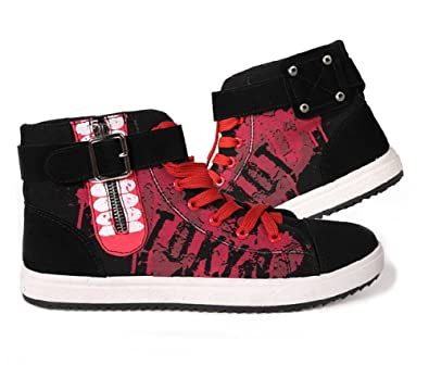 Telacos Tokyo Ghoul Anime Ken Kaneki Cosplay Shoes Canvas Shoes Casual Shoes Sneakers Red