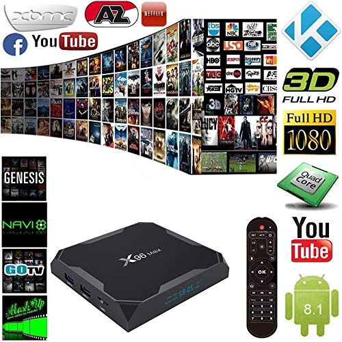 Android 8 1 TV Box X96 Max TV Set Top Box S905W Network Player 4G