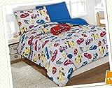kids car wash set - 6 Piece Comforter Set Kids Bed in a Bag- Twin (Race Car)