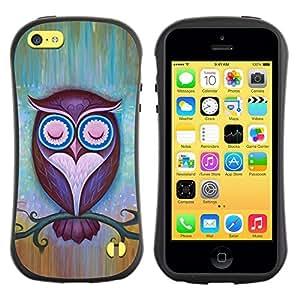 "Hypernova Slim Fit Dual Barniz Protector Caso Case Funda Para Apple iPhone 5C [Maestro Noche estilo Pretty""]"