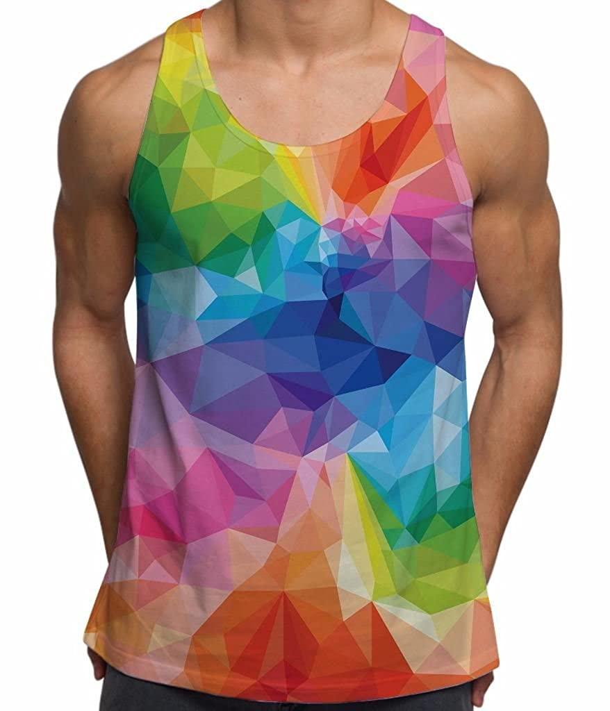 Bang Tidy Clothing Mens Tank Tops Geometric Colour Holiday Top TC011P0