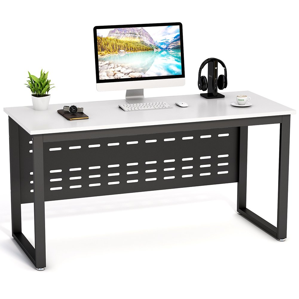 Tribesigns 55 inch Computer Desk,L-Shaped Desk with Cabinet Storage, Office Writing Desk with Bookcase &Printer Stand for Home Office by Tribesigns (Image #2)