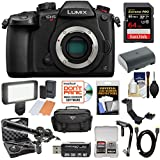 Panasonic Lumix DC-GH5S Wi-Fi C4K Digital Camera Body with 64GB Card + Battery + Case + Video Light + Microphone + Stabilizer Kit