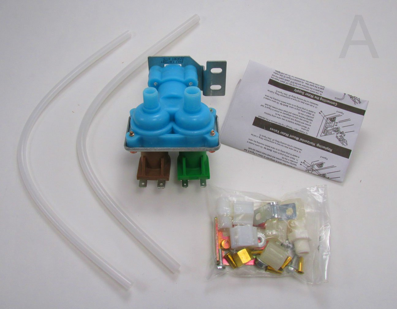2002182 Quality Replacement Dual Water Valve Kit For Kenmore Wine Cooler Wiring Diagram Refrigerators With Dispenser And Ice Maker Fits Whirlpool Maytag