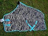 Challenger Horsewear 84'' Horse Sheet Polar FLEECE COOLER Exercise Blanket wick Zebra 4340