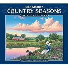 John Sloane's Country Seasons 2018 Deluxe Wall Calendar