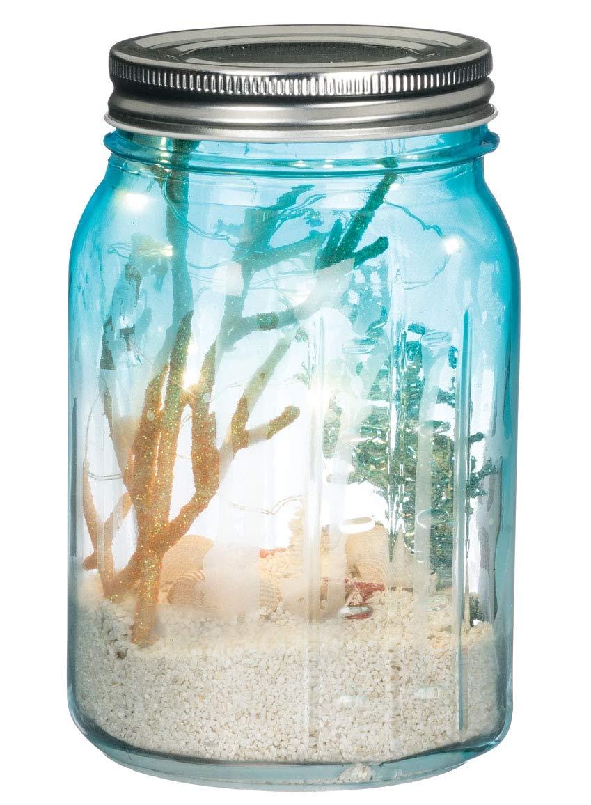 Sullivans Seaside Sand Globe LED Jar