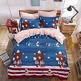 4pcs Bedding Sets Duvet Cover BedSheet Pillowcase2 Healthier For Skin Reactive Printing Twin Full Qu