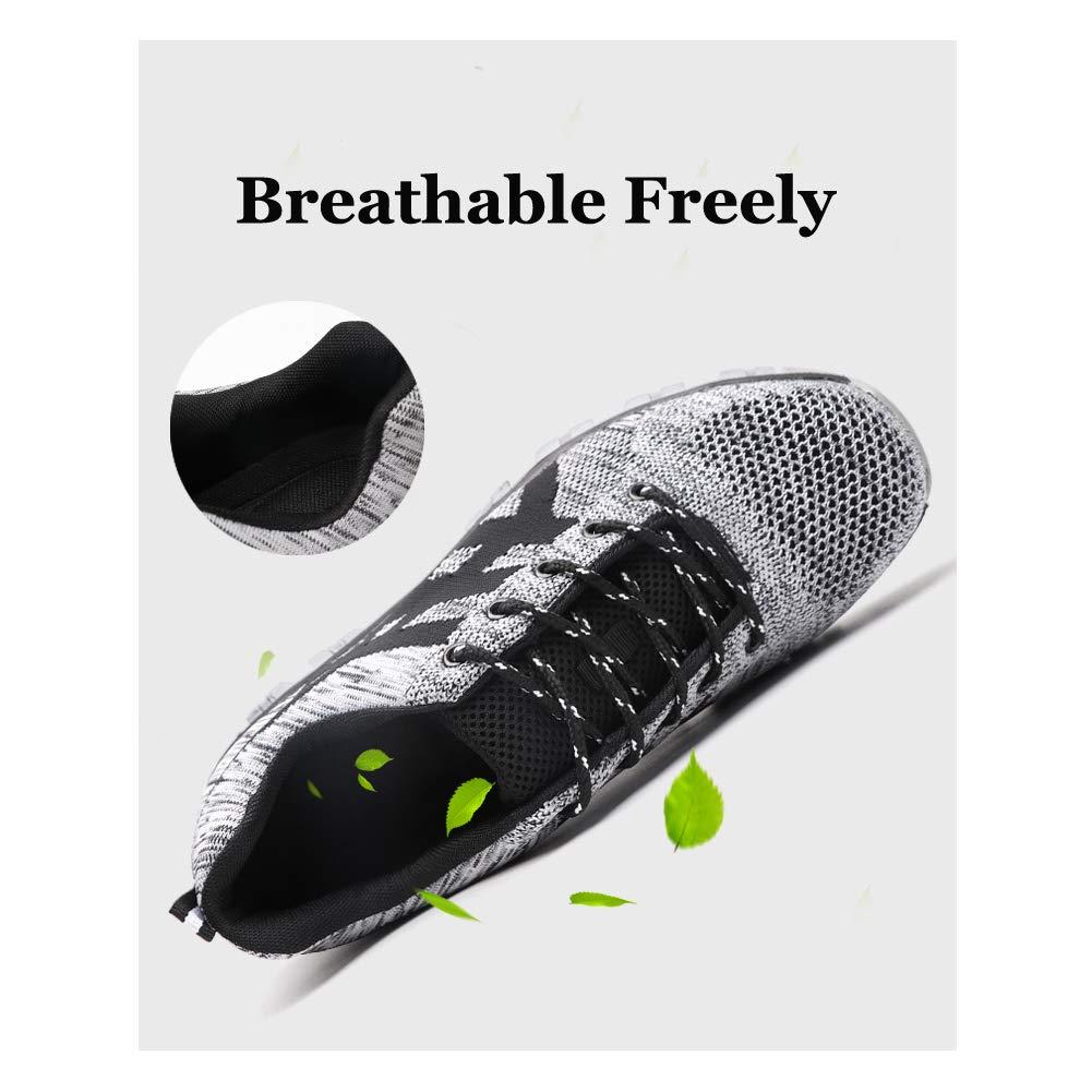 Zapato Seguridad Zapatos Trabajo con Punta de Acero Antideslizante Senderismo Unisex-Adulto 35-50 EU