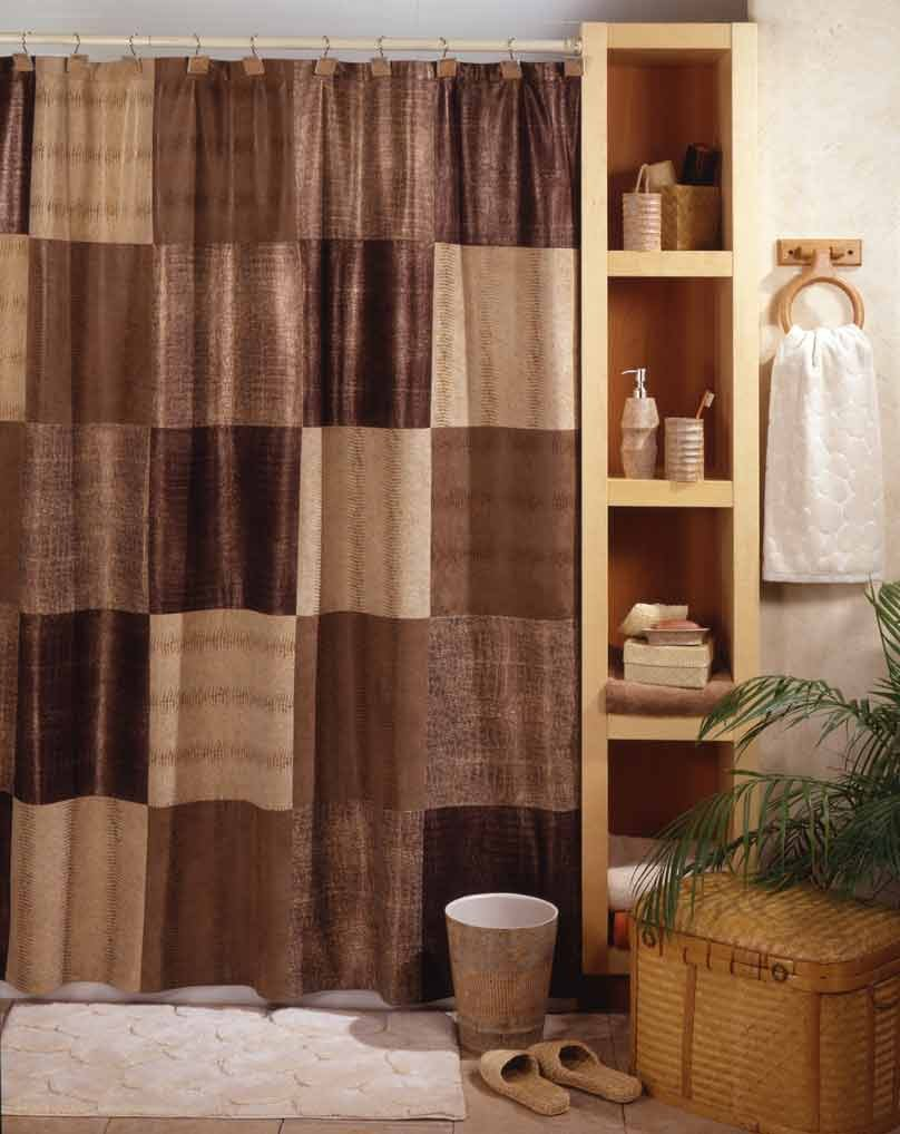 Amazon.com: Maytex Wild Patch Fabric Shower Curtain, Natural: Home ...