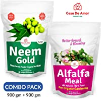 Casa De Amor Special Combo Pack- Neem Gold (900 gm) + Alfalfa Meal Organic Fertilizer (900 gm)