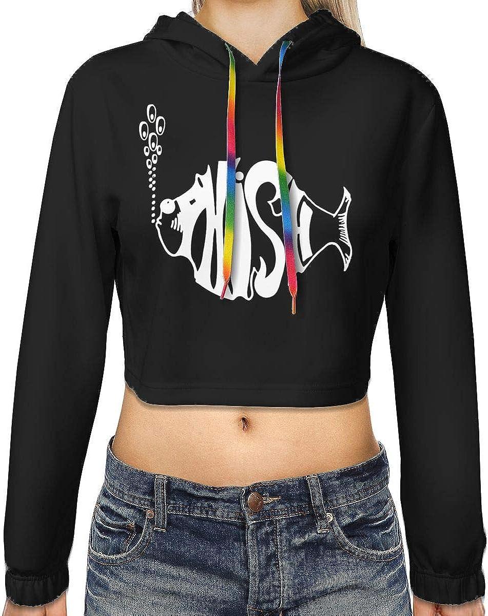 Womens Phish Music Band Long Sleeve Sweatshirt Hooded Girls Crop Top Hoodies