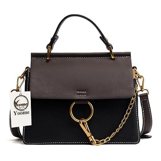 f327e0937dd3 Yoome Women's Vintage Shoulder Bags Top Handle Handbags Crossbody Ring Bag  Designer Purse