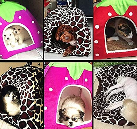 36cm Wicemoon 1pcs Nido del Animal Dom/éstico C/álido Suave Casa de Felpa para Gato Perro Conejo Casa Jaula Extra/íble L:36