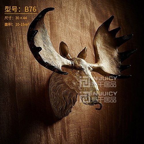 Injuicy Lighting Vintage Industrial Resin Animal Horse Bedroom Loft Wall Light Lamp Home Decor (B76)