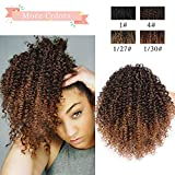 Vigorous Afro Ponytail Kinky Curly Drawstring Ponytail Ombre Brown Color Hair Extensions Drawstring