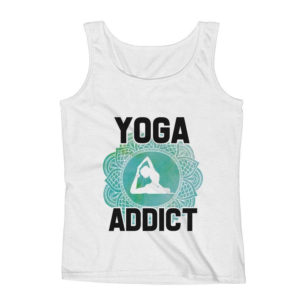 Mad Over Shirts Yoga Addict Unisex Premium Tank Top