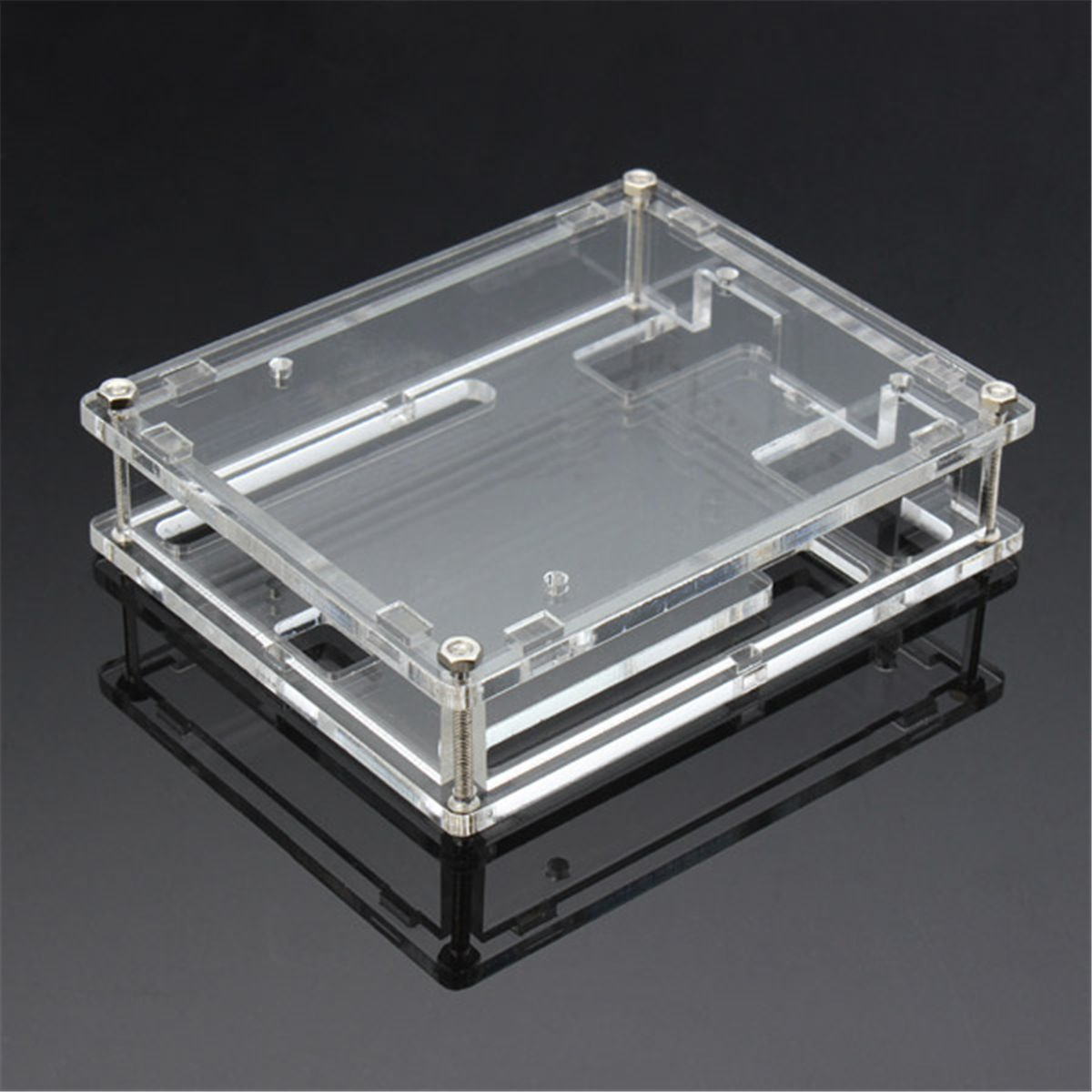 [Sintron] UNO R3 Transparent Gloss Acrylic Case Shell Enclosure Computer Box for Arduino Compatible UNO R3 V3 ATMEGA328P with instructions