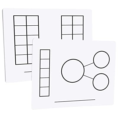 Didax Educational Resources Write-On Wipe-Off Five and Ten-Frame Mats, Set of 10: Industrial & Scientific