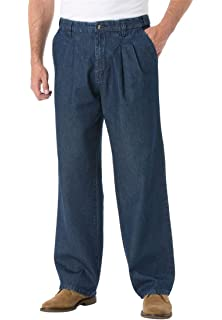 4265a22504b KingSize Men s Big   Tall Relaxed Fit Comfort Waist Pleat-Front Expandable
