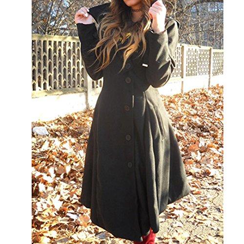 B Manteau Manteaux Femmes Parka Blouson Tunique Pullover Reaso Elegant Veste avec Chaud Noir Grande Longue Outwear Hiver Sweatshirt Longue Vintage Taille Hiver Capuche Hooded Mi Fourrure 4wddqWv5
