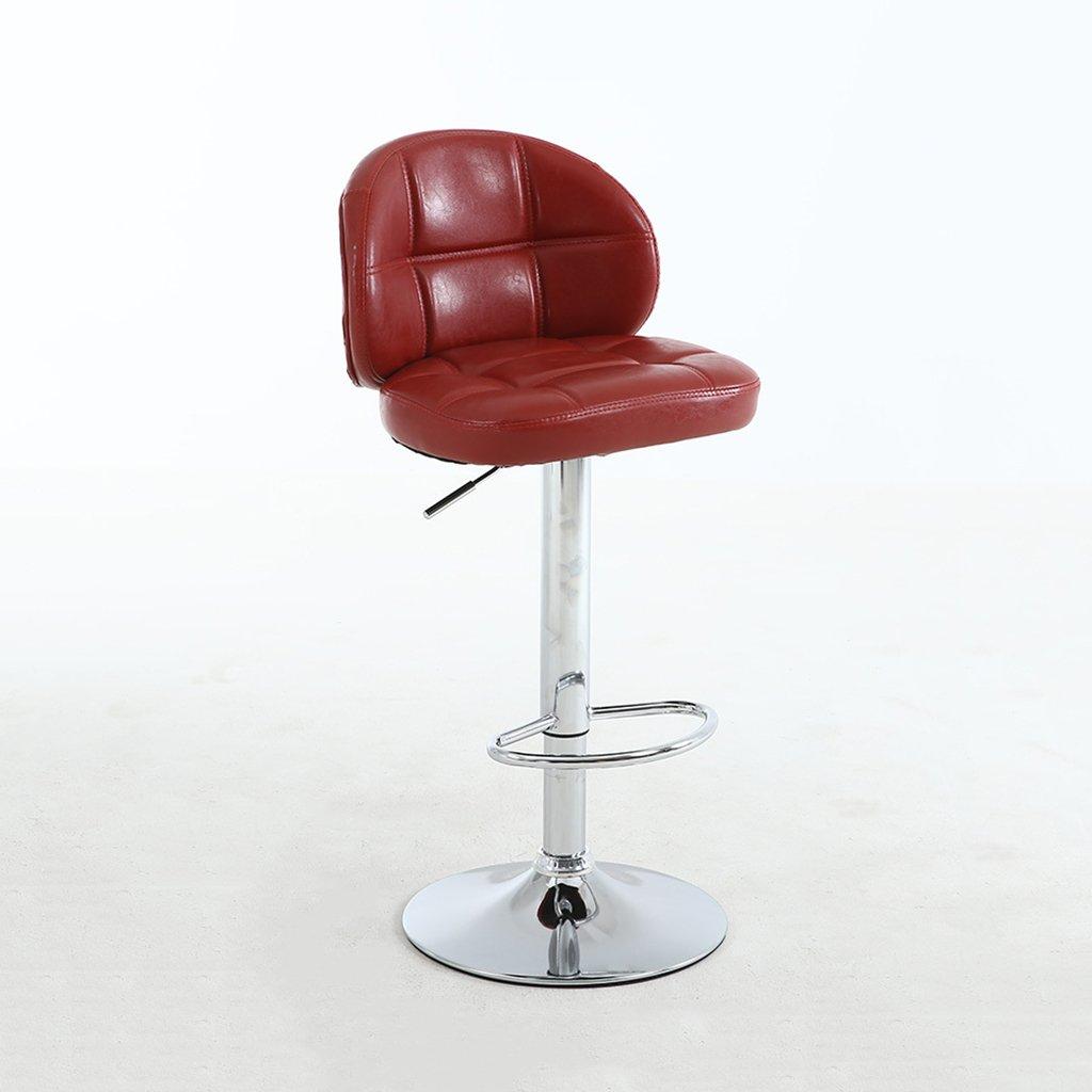 XUEPING バースツール/チェアカウンターチェアローターリフトオフィスチェアキッチンレストランバースツール/椅子8色ハイバックハイスツール現金レジスター (色 : D, サイズ さいず : One) B07D3TJBLL One|D D One