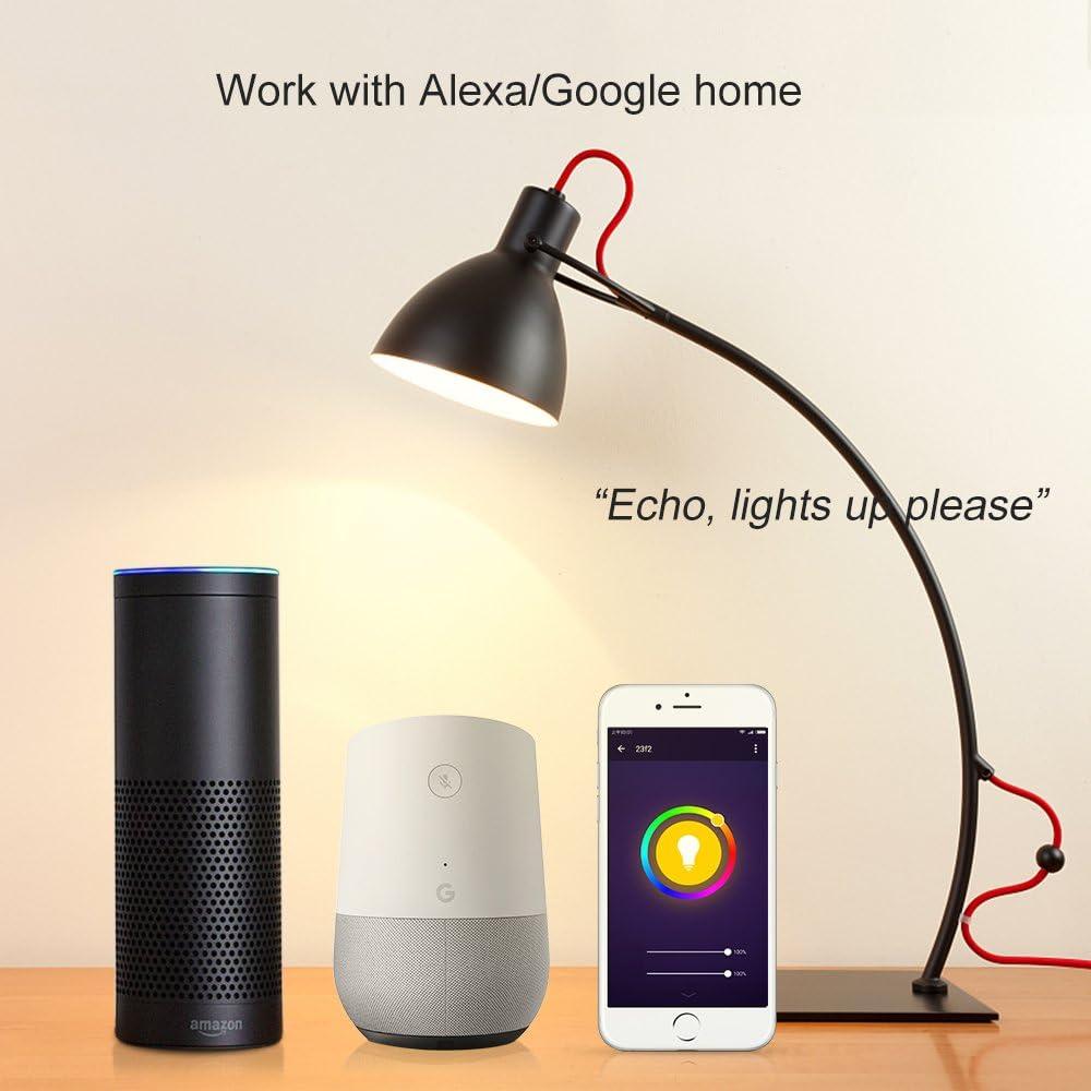 /Alexa Eonteq color/é ampoules LED /à intensit/é variable travailler avec  Alexa Echo Google Home 7/W 1 Pack m Wifi Smart ampoules E27/ E27 7.00watts 240.00volts