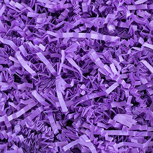 (Crinkle Cut Paper Shred Filler (1 LB) for Gift Wrapping & Basket Filling - Purple | MagicWater Supply)