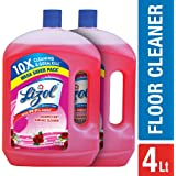 Lizol Disinfectant Floor Cleaner - 2000 ml (Pack of 2, Floral)