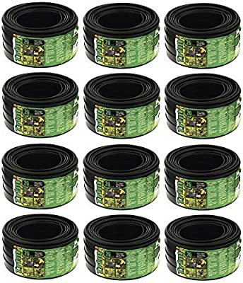 "Master Mark # 29220 3-1/2"" x 20' ft Black Economy Lawn / Garden Edging - Quantity 12"