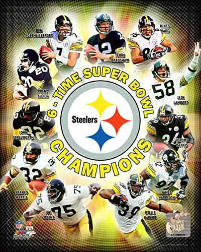 Pittsburgh Steelers Ben Roethlisberger And 6 Time Super Bowl Champions Collage 8x10 Photo, Picture