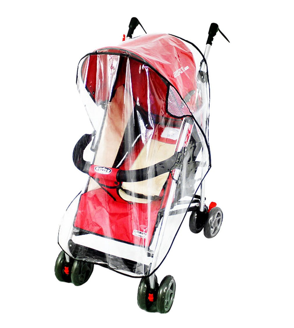 Universal Baby Stroller Weather Shield Baby Rain Cover Waterproof Windproof, Clear by NobleScore