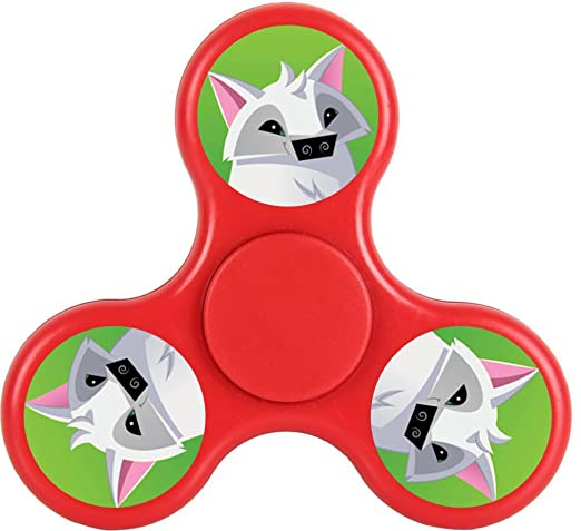 Animal Jam Play Wild Fidget Spinner Toy Tri-Hands Spin Stress Reducer EDC ADD ADHD
